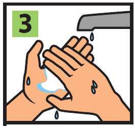Step 3 of instructions image, Wet and rub both hands together for 10 seconds, working the product into a paste. (This will activate the ingredients. Do not bypass or modify this step.)