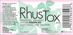 Rhus Tox Label